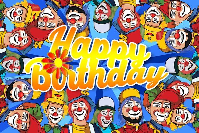 Birthday, Clowns, Funny, Greeting Card, Map, Greeting