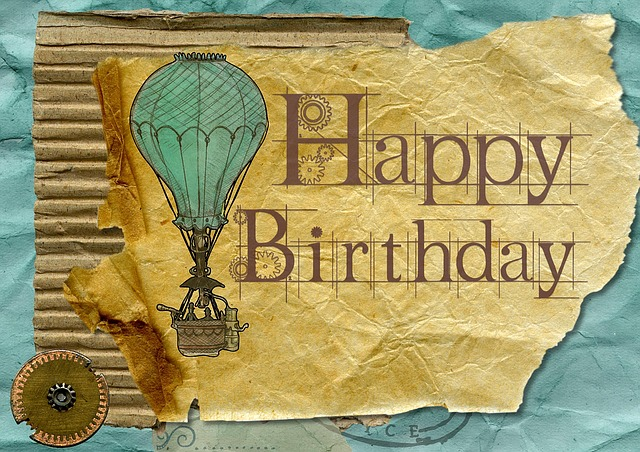 Happy Birthday Greeting Card Grunge Vintage