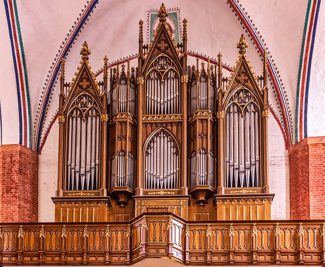 St Mary's Church, Organ, Greifswald, Wood, Metal