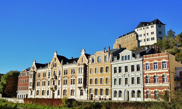 Greiz, Upper Castle, Architecture, Thuringia Germany