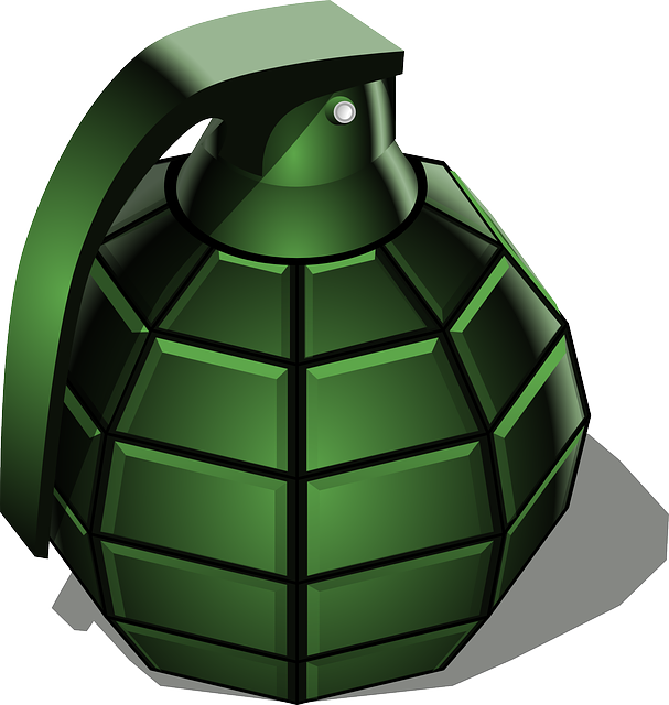 Hand Grenade, Grenade, War, Green, Weapon, Detonator