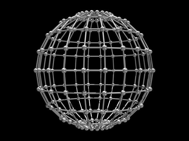 Cage, Sphere, Grid, 3d