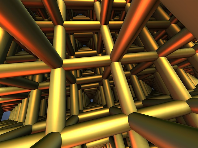 Bars, Pipes, Grid, Building, Construction, Industrial