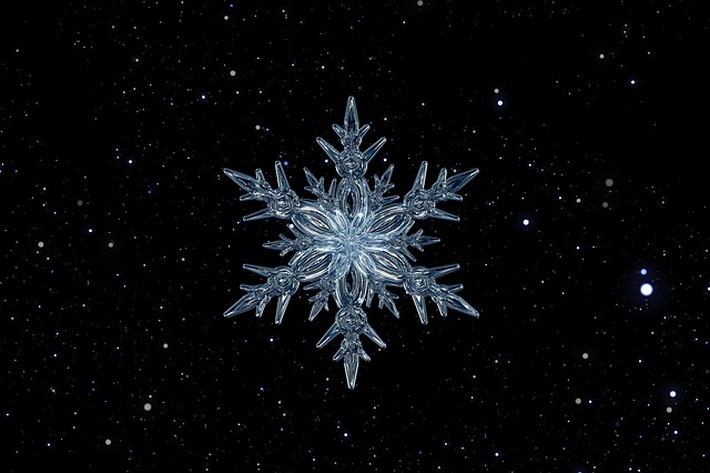 Snowflake, Ice Crystal, Ice, Form, Frost, Fabric, Grid