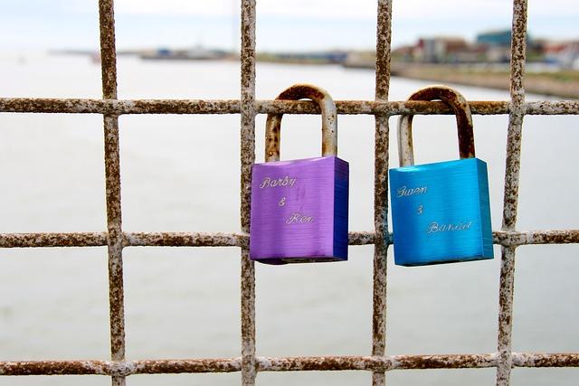 Castles, Love, Grid, Water, Padlock, Love Locks