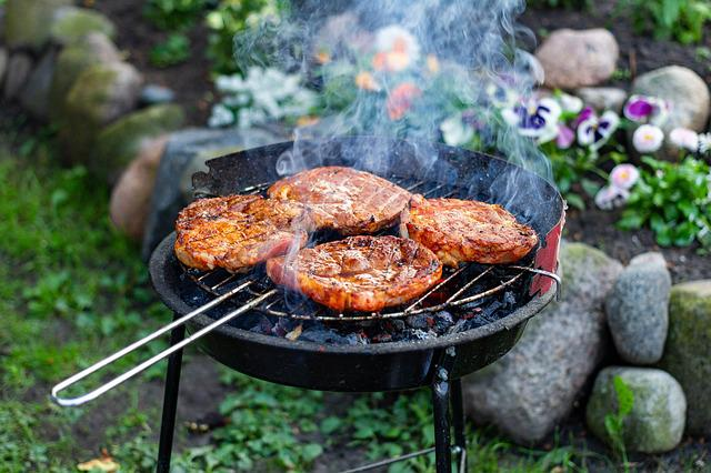 Grill, Barbecue At The, Smoke, Holidays, Sausage, Coal
