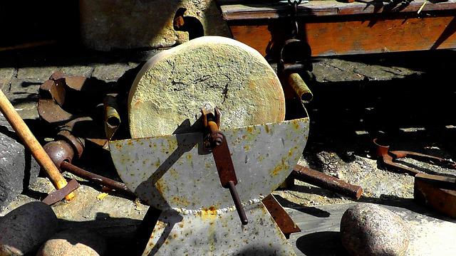 Grinding Stone, Scissors Grinder, Craft, Middle Ages