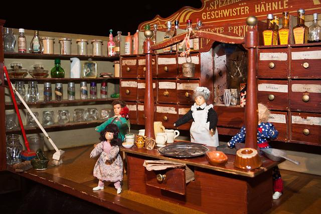 Grocer, Toys, Old, Antique, Play, Children Toys
