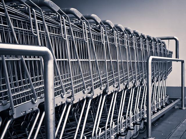 Shopping Carts, Grocery, Shopping, Grocery Shopping