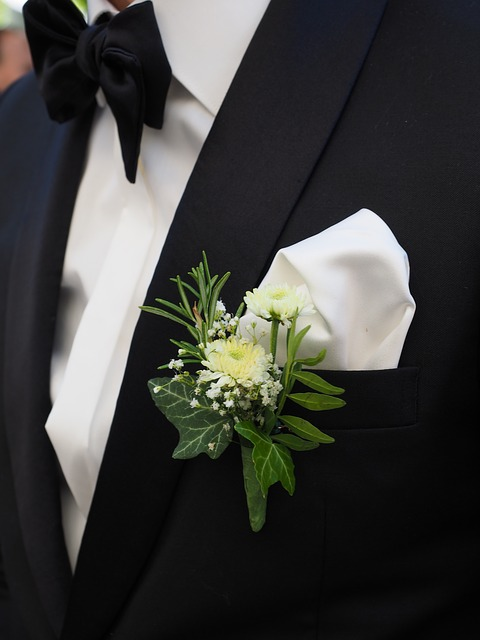 Groom, Floral Decorations, Lapel, Man, Flower, Fly