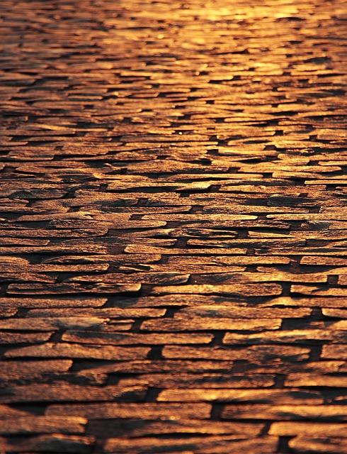 Cobblestones, Paving Stones, Dusk, Road, Ground