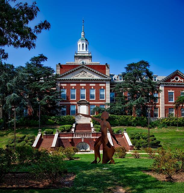 Howard University, Landscape, Scenic, Campus, Grounds