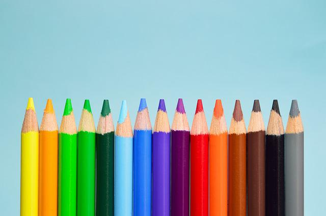 Green, Art, Wood, Sharp, Pencil, Group, Blue, Colorful