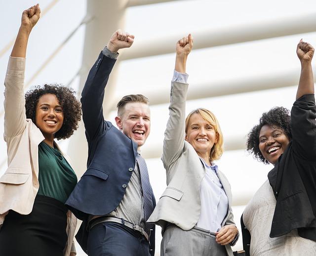 Man, Woman, Group, Teamwork, Group Together