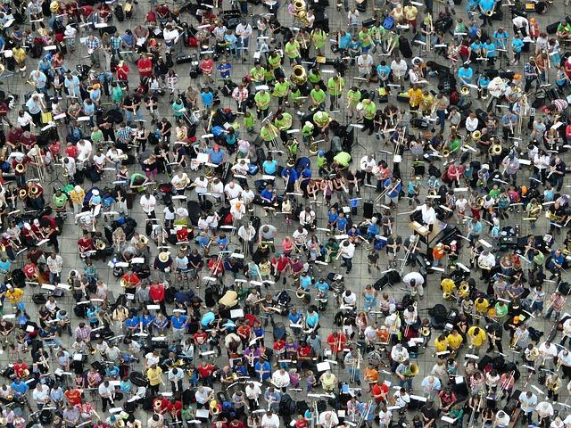Quantitative, Mass, Group, Green, Human, People