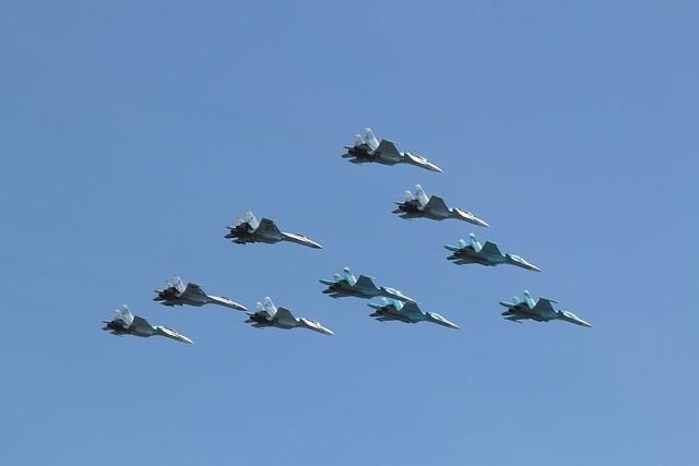 Aircraft, Higher, Aerobatics, Group, Parade, Moscow
