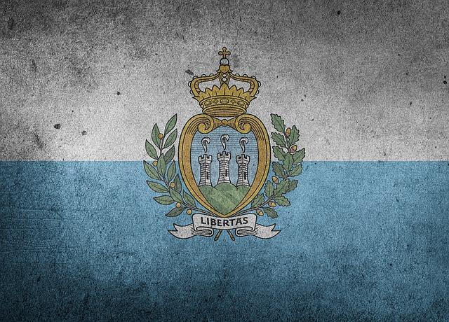 Flag, San Marino, Europe, National Flag, Grunge