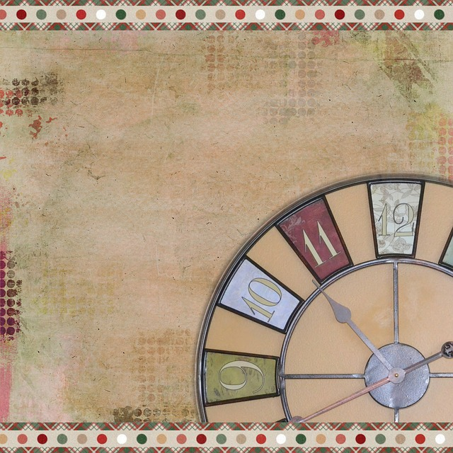 Background, Scrapbooking, Old, Clock, Vintage, Grunge