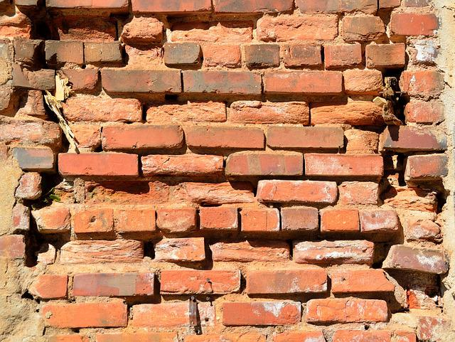 Brick Wall, Old, Grunge, Background, Backdrop, Wall