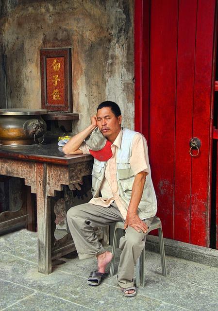 Guardian, Resting, Sleep, Red Door, Macau