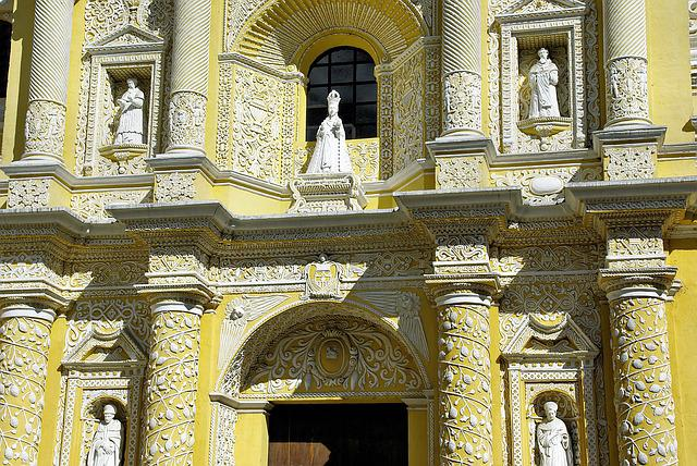 Guatemela, Antigua, Church, Merced, Baroque, Facade
