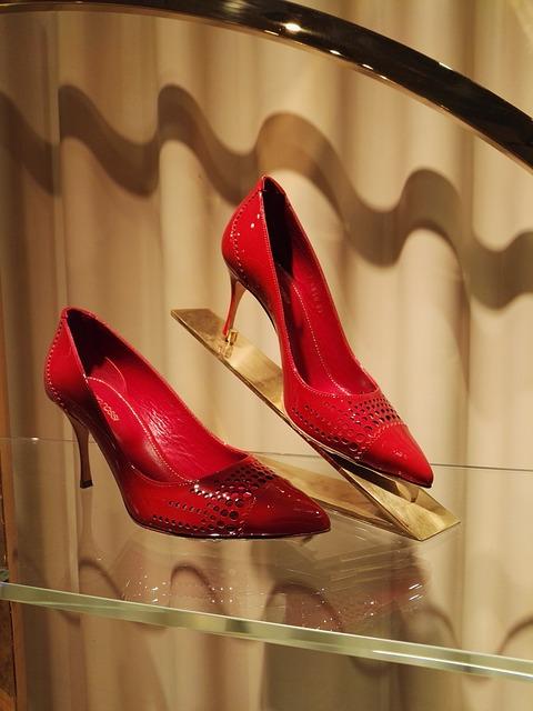 Beijing, Guildford Grass, Red High Heels