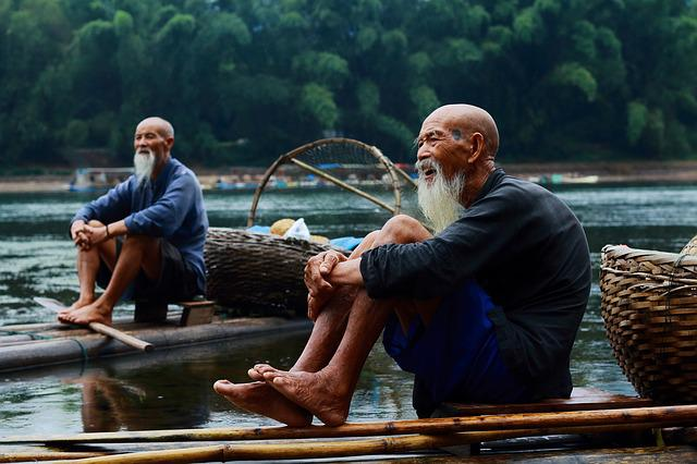 Fisherman, Nature, Guilin, River, China, Guangxi