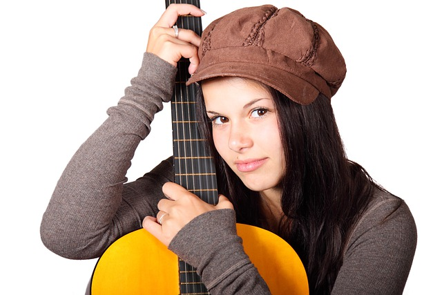 Acoustic Guitar, Cute, Female, Girl, Guitar, Guitarist