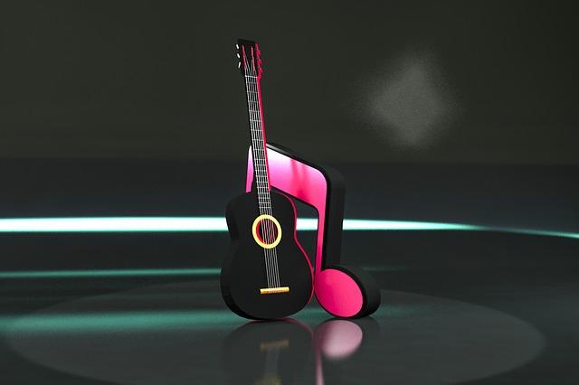 Music, Bright, Guitar