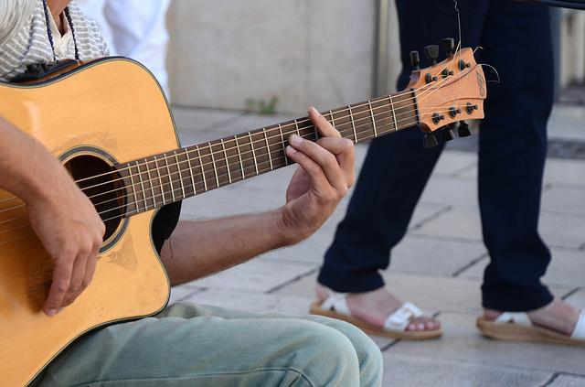 Guitar, Guitarist, Playing The Guitar, Musician