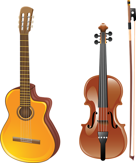 Guitar, Violin, Bow, Musical Instrument, Acoustics