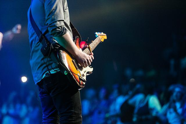 Audience, Concert, Guitar, Guitarist, Man, Music