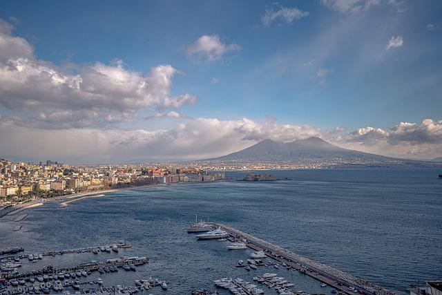 Napoli, Golfo, Naples, Vesuvius, Gulf, Bay, Coastline
