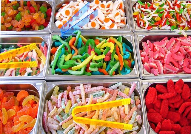 Candies, Gummies, Sweets, Gummy Candies, Gummy Worms