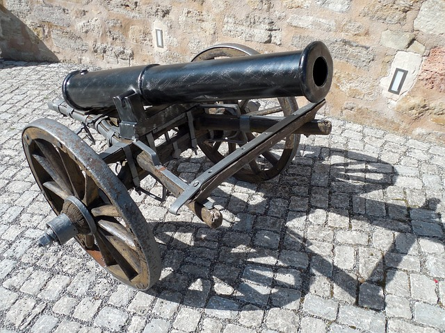 Gun, Fire Weapon, Artillery, War, History, Old, Defense
