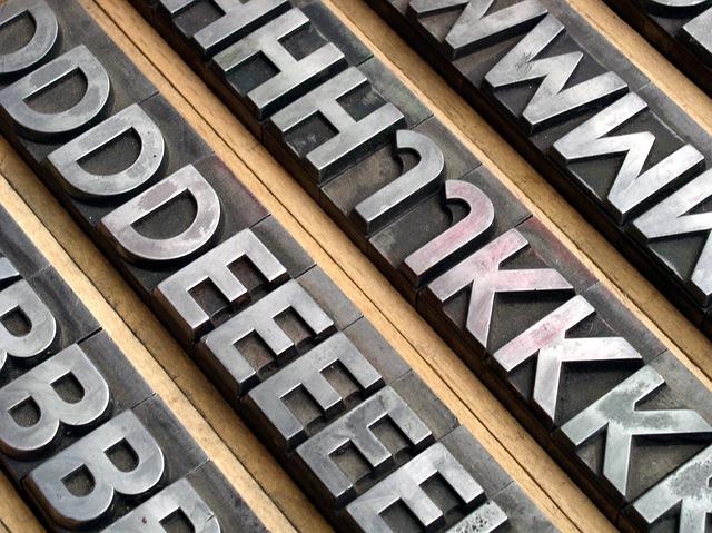 Font, Lead Set, Book Printing, Gutenberg, Letters