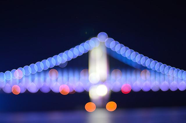 Bokeh, Light, Gwangalli, Gwangan Bridge, Bridge