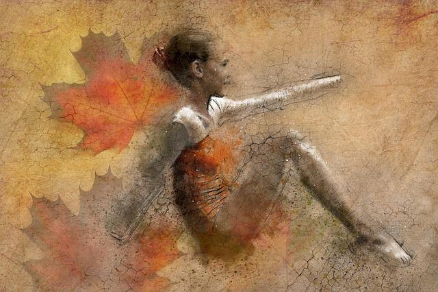 Art, Painting, Girl, Pose, Ballet, Dancer, Gymnast