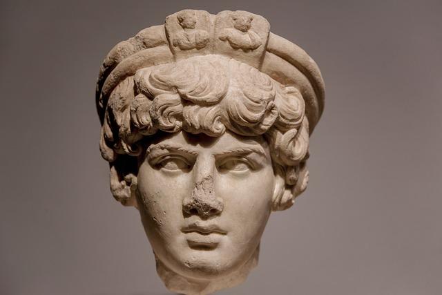 Statue, Stone, Young, Boy, Head, Face, Emperor, Hadrian
