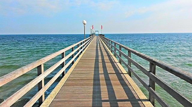 Haffkrug, Sea Bridge, Baltic Sea, Baltic Sea Beach, Web