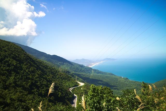 Hai Van Pass, Vietnam, View, Ocean, Pass