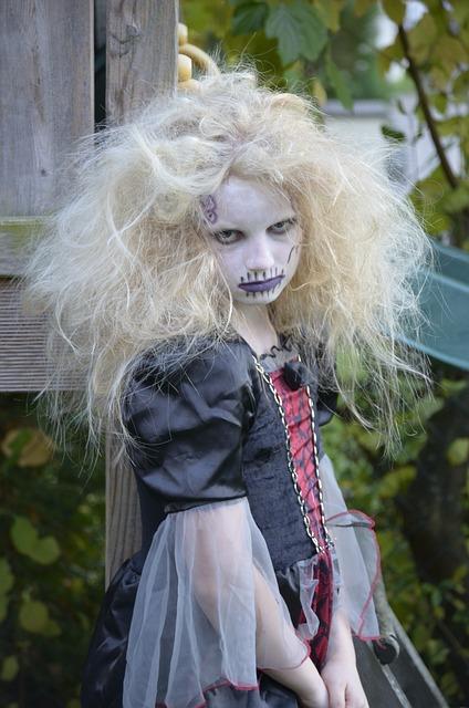 Girl, Blond, Mane, Close Up, Hair, Costume, Portrait