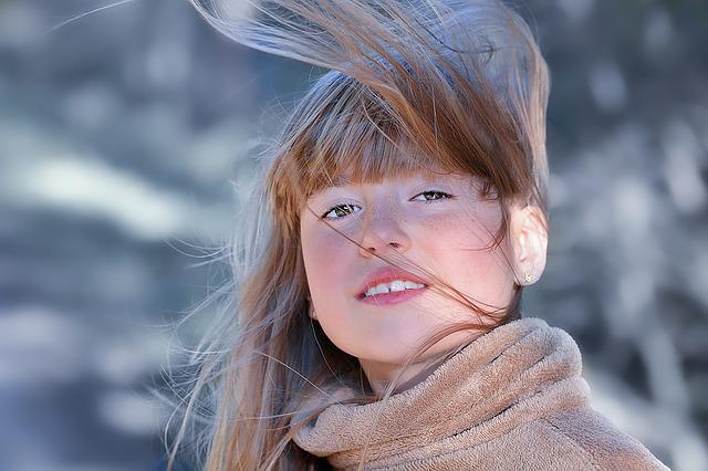Girl, Person, Human, Female, Face, Hair, Hair Flying