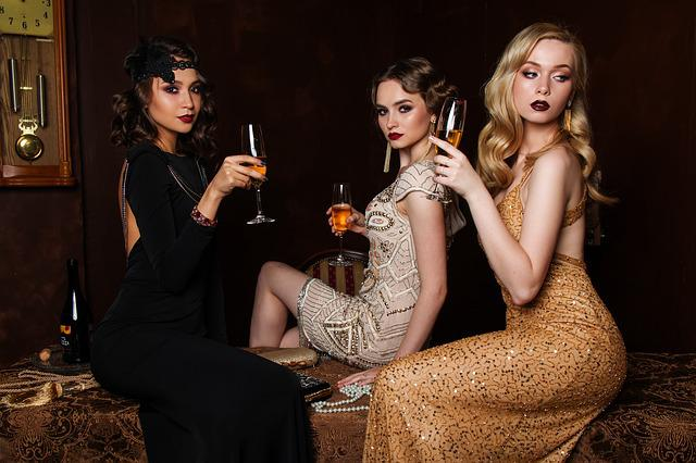 Three, Women, Fashion, Hair, Glamour, Luxury, Blonde