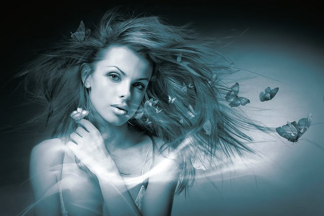 People, Portrait, If, Woman, Darkness, Model, Hair