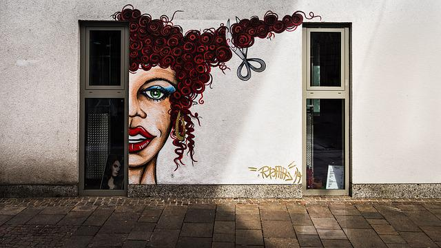 Hairstyler, Facade Paint, Mural, Wall, Graffiti