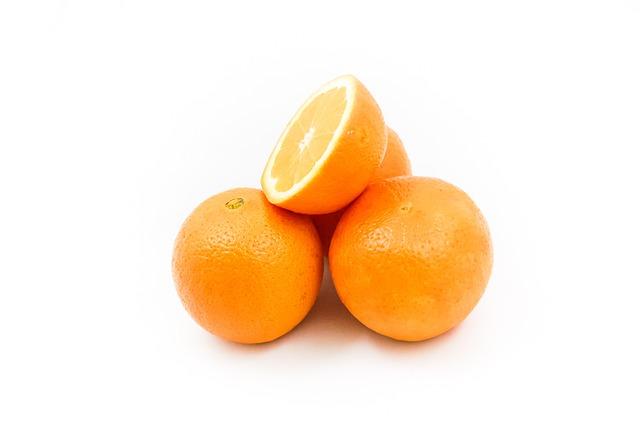Oranges, Fruit, Vitamins, Healthy Eating, Half, Orange