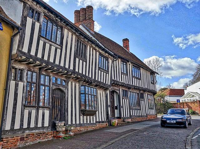 Lavenham, Half Timbered, House, Medieval, Facade