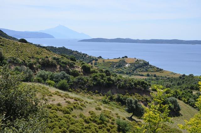 Greece, Halkidiki, Sea, The Aegean Sea, Mount Athos