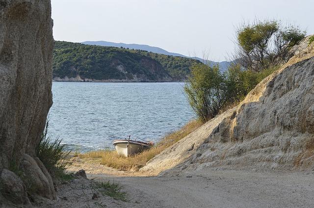 Nature, Greece, Halkidiki, Mount Athos, Sea